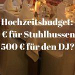 Hochzeitsbudget